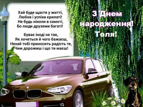 Красиві привітання з Днем народження та Днем Ангела Анатолію, Толі