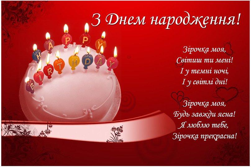 Привітання коханому  з Днем народження
