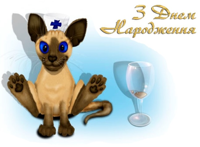 Привітання ветеринару з Днем народження